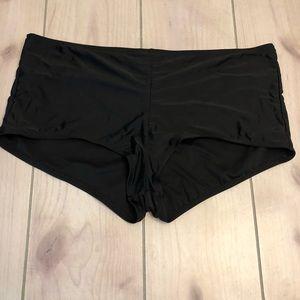 Boy shorts swim bottoms